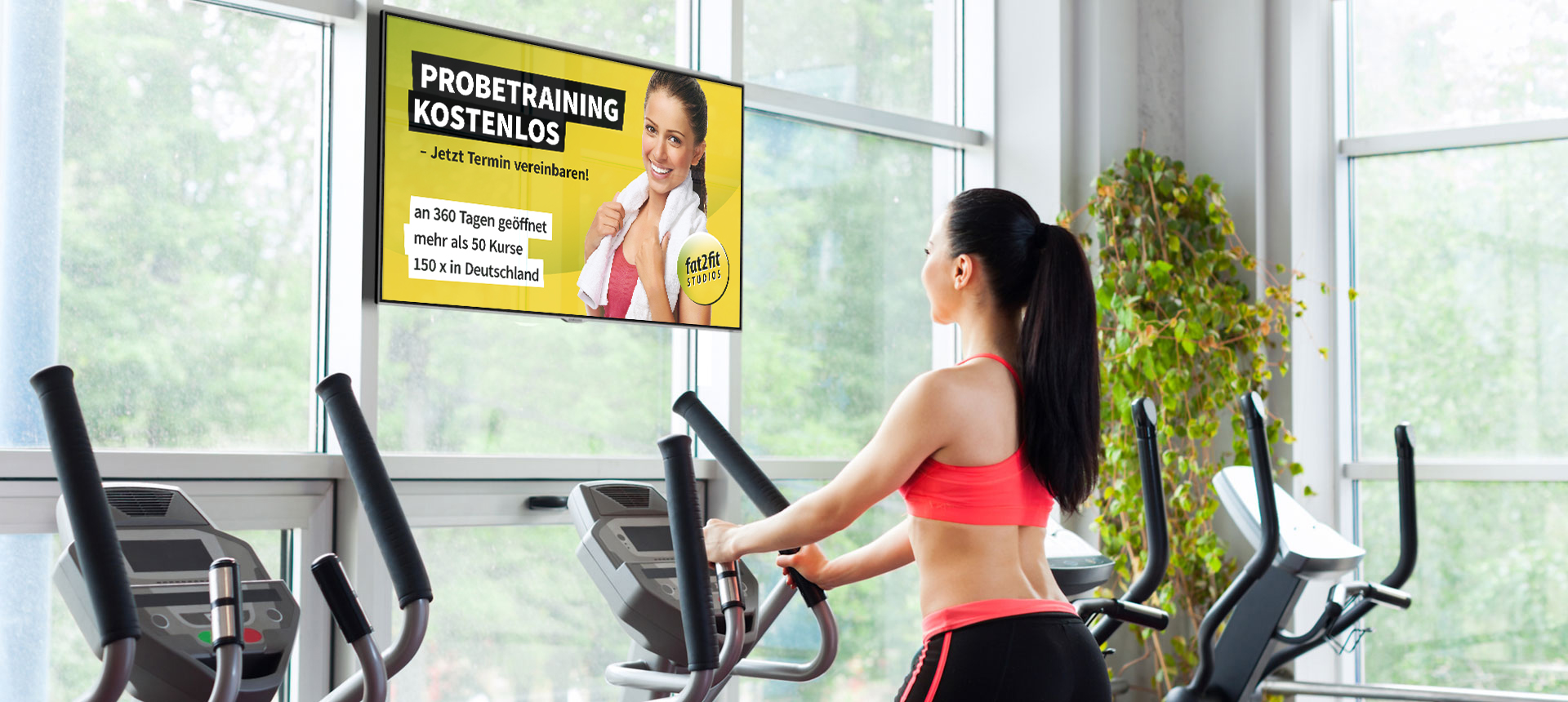 viewneo Digital-Signage Fitness-Studio